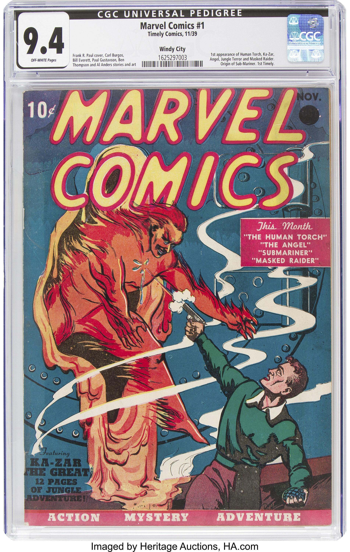 Первый выпуск комиксов Marvel продали дороже, чем за $1 млн: фото
