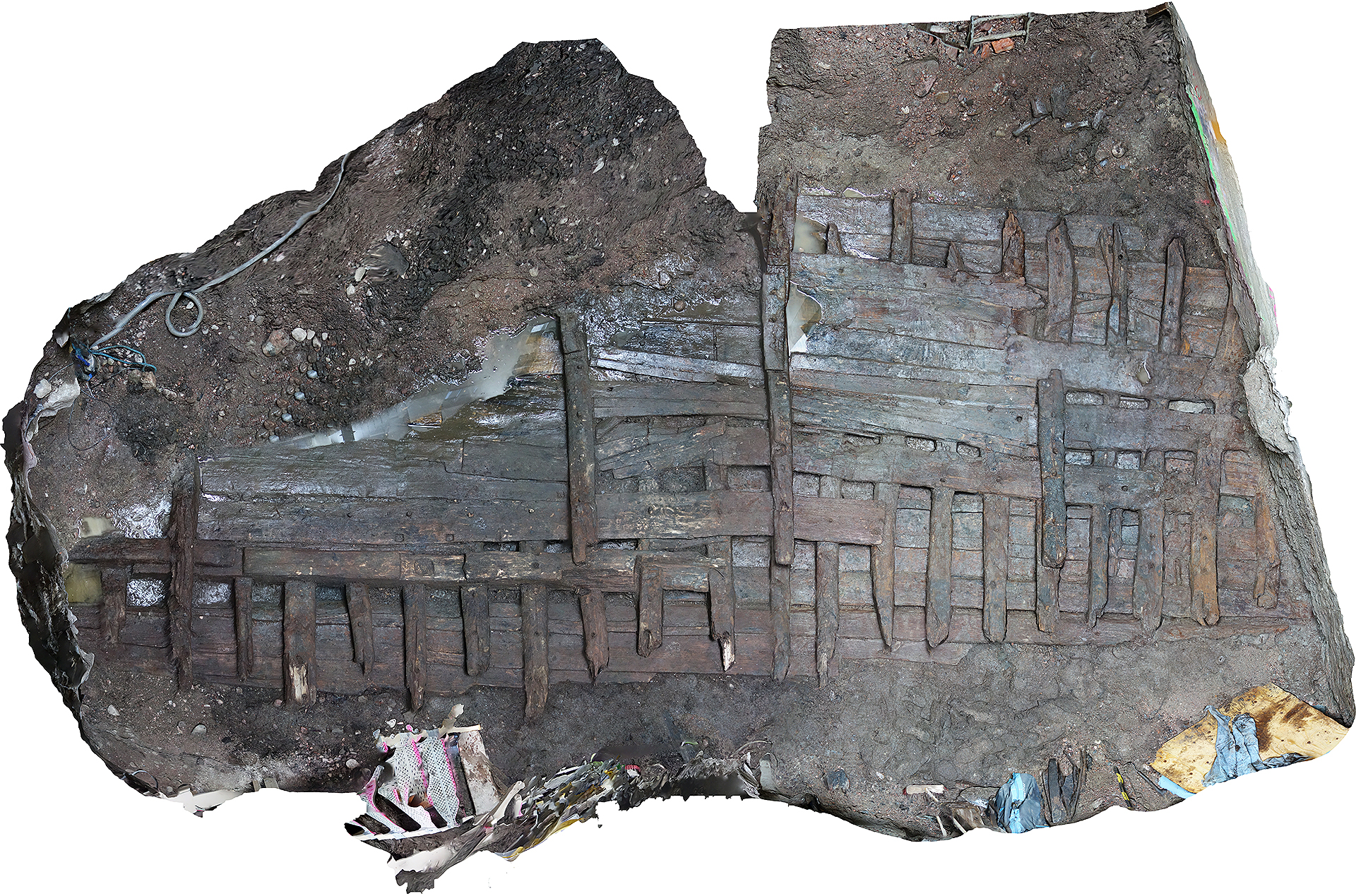 Обломки корабля XVI века нашли в центре Стокгольма: фото