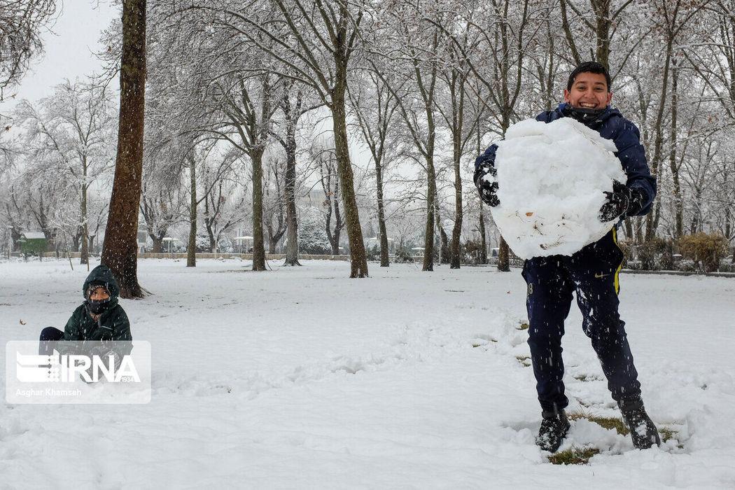 В Тегеране выпал снег: фото