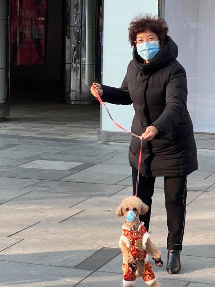 Женщина с собачкой, Пекин, фото: личный архив Сергея Пудича