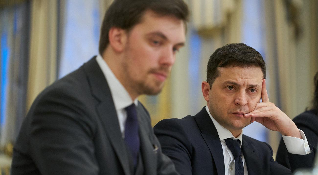 Алексей Гончарук и Владимир Зеленский (Фото: пресс-служба президента)