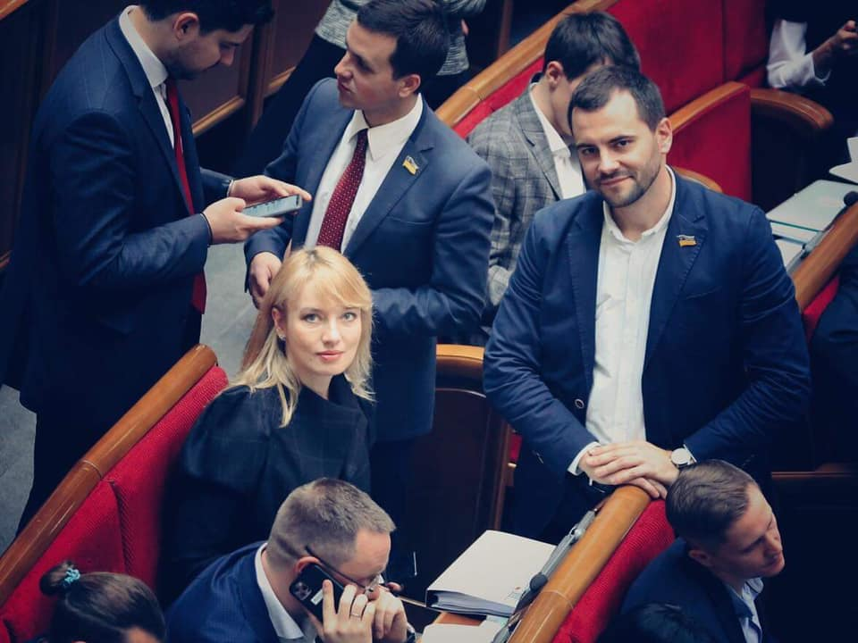 Елена Шуляк в Верховной Раде, фото: Facebook / Елена Шуляк
