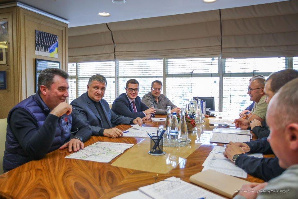 Алексей Данилов, Арсен Аваков, Иван Баканов и Антон Геращенко (фото - twitter.com/MVS_UA)