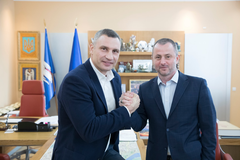 Виталий Кличко и Максим Бахматов (Фото: пресс-служба КГГА)