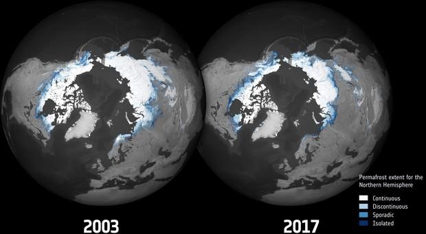 Вечная мерзлота в северном полушарии Земли: что изменилось за 15 лет