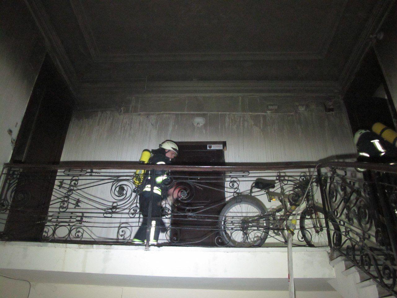Пожар на улице Греческая в Одессе