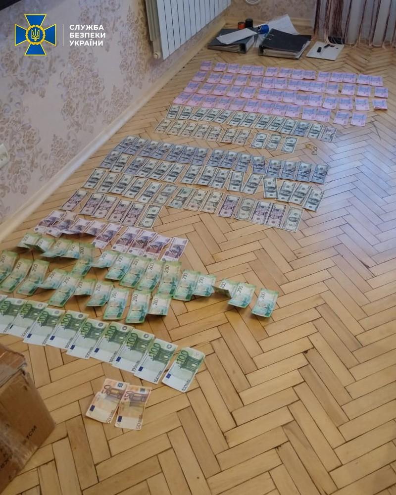 СБУ показала изъятые деньги при обыске: фото