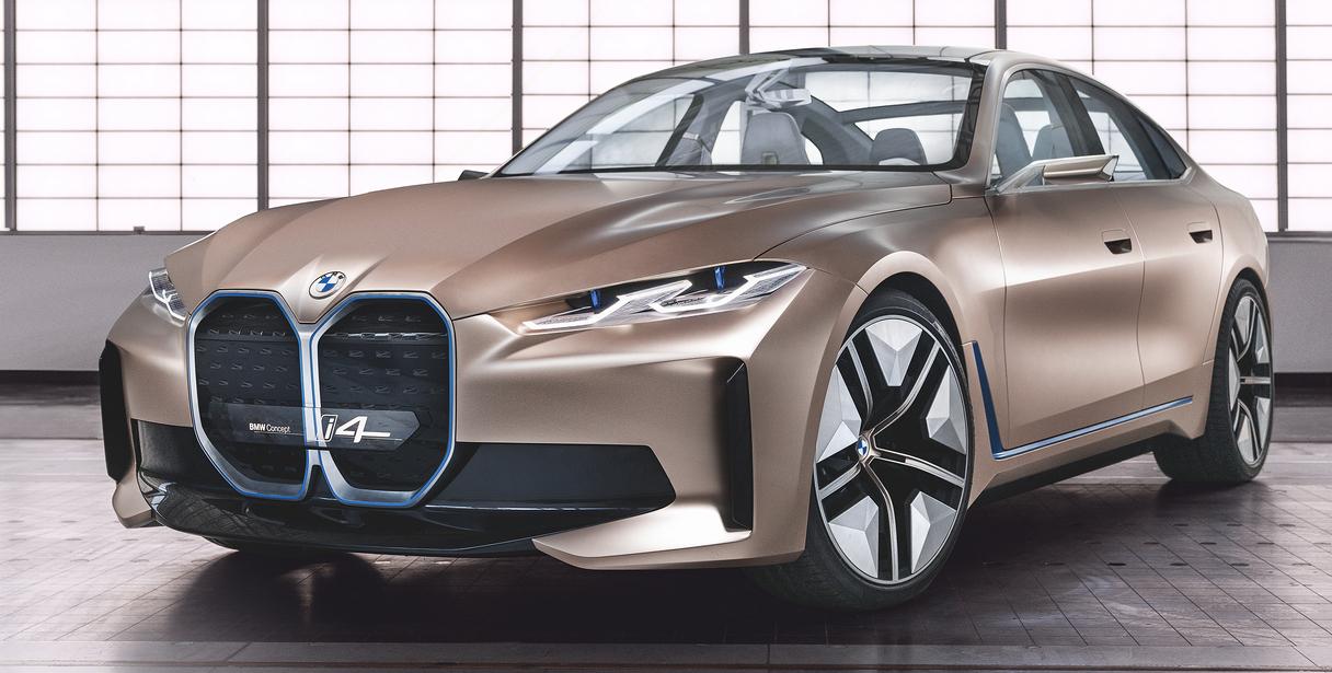 Концепт BMW i4 на автосалоне в Женеве