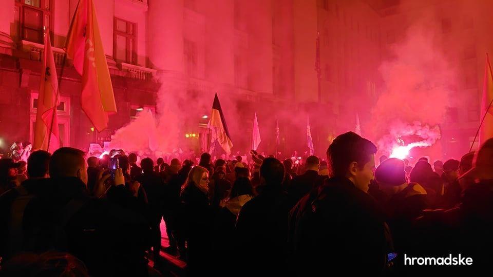 Митинг возле Офиса президента (Фото: hromadske)