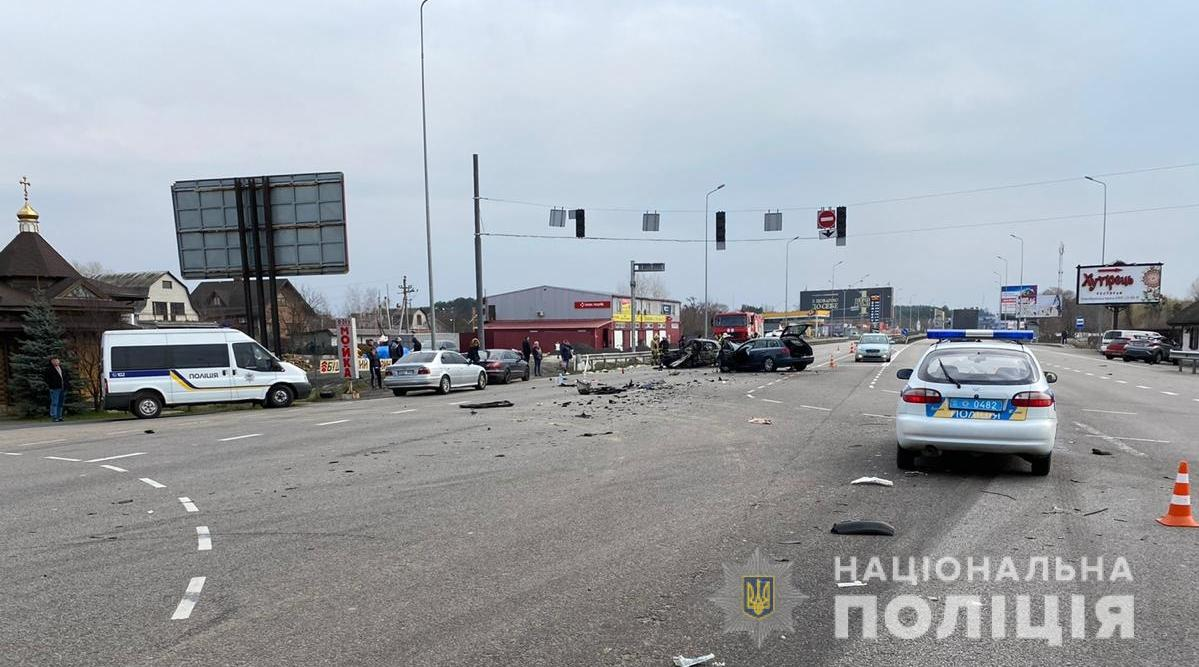 Авария на Обуховской трассе: фото
