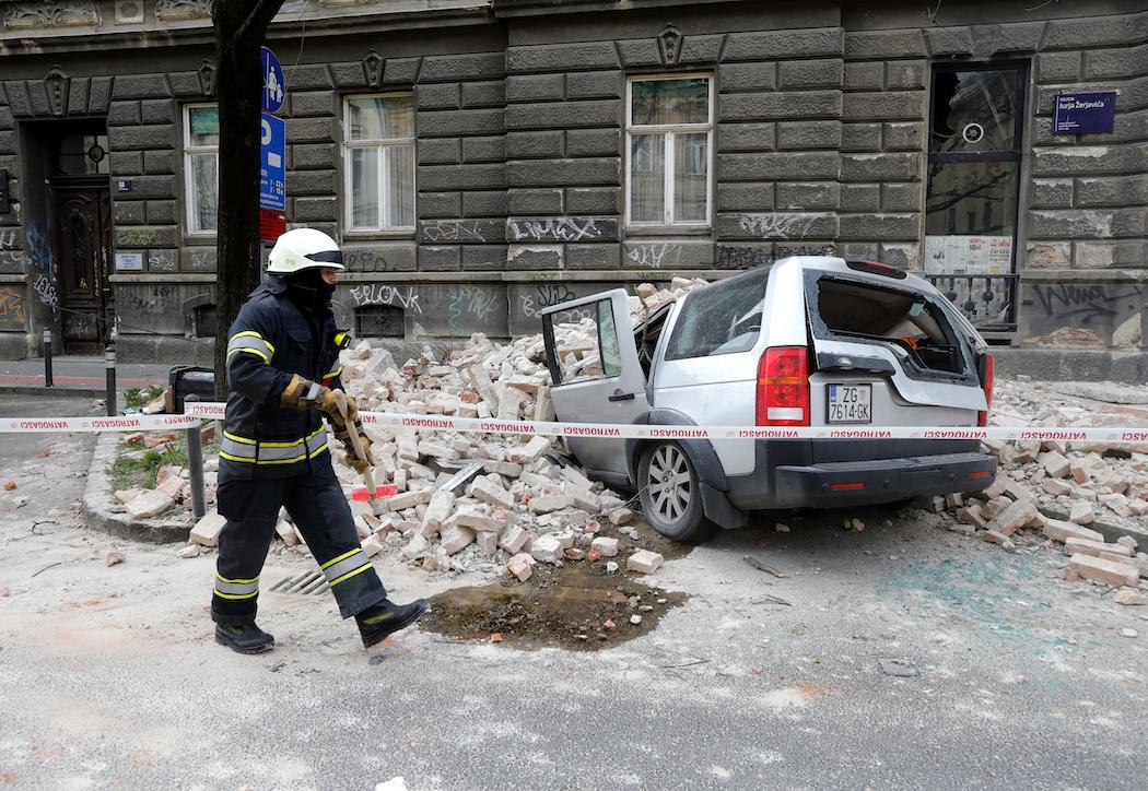 Землетрясение в Загребе (Хорватия) (Фото: EPA)