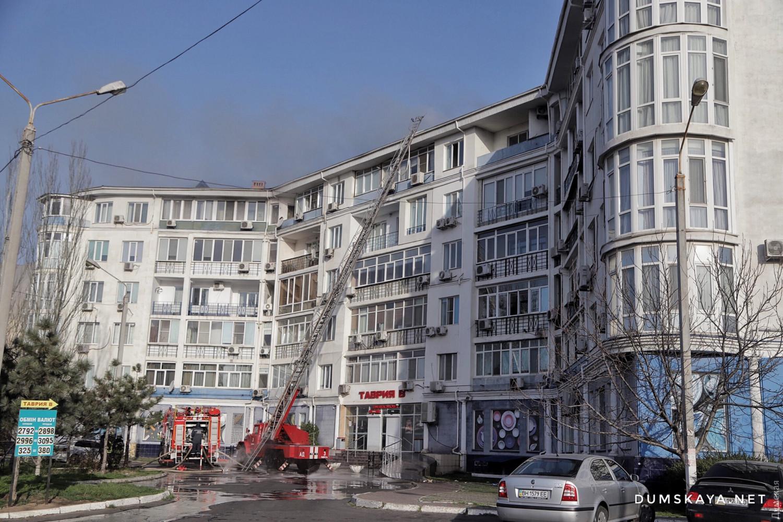 Ликвидация пожара в Одессе: фото