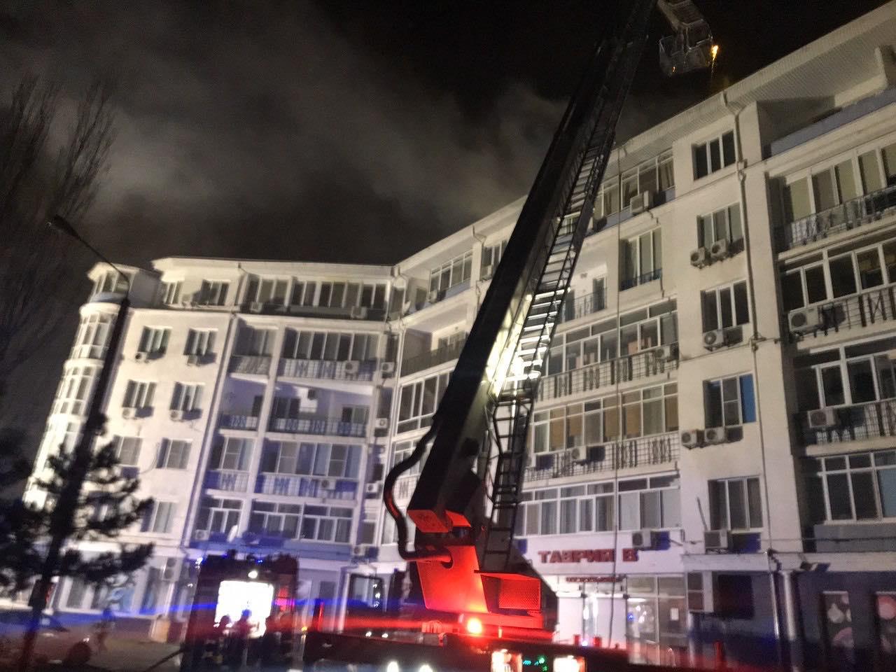 Пожар в шестиэтажном доме Одессы:фото