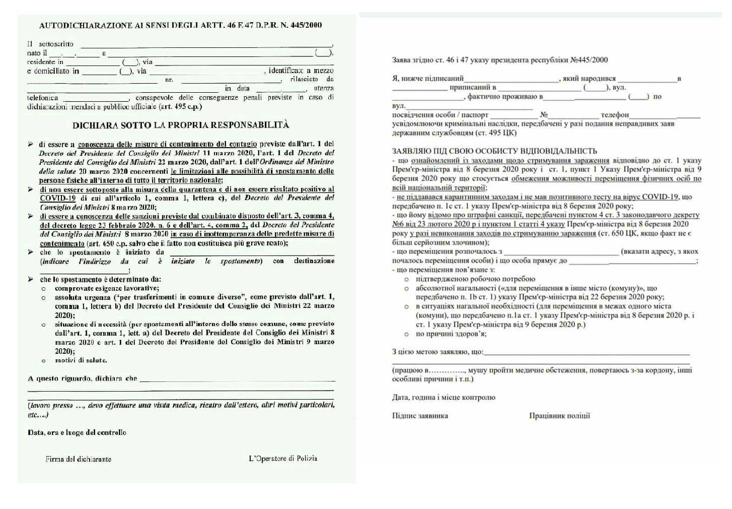Индивидуальная декларация, фото: личный архив автора
