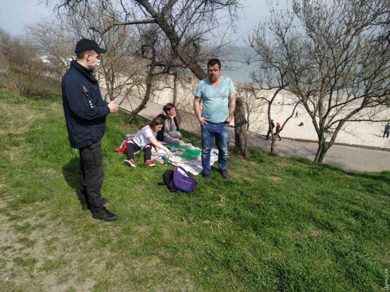 Нарушение карантина в Одессе: фото