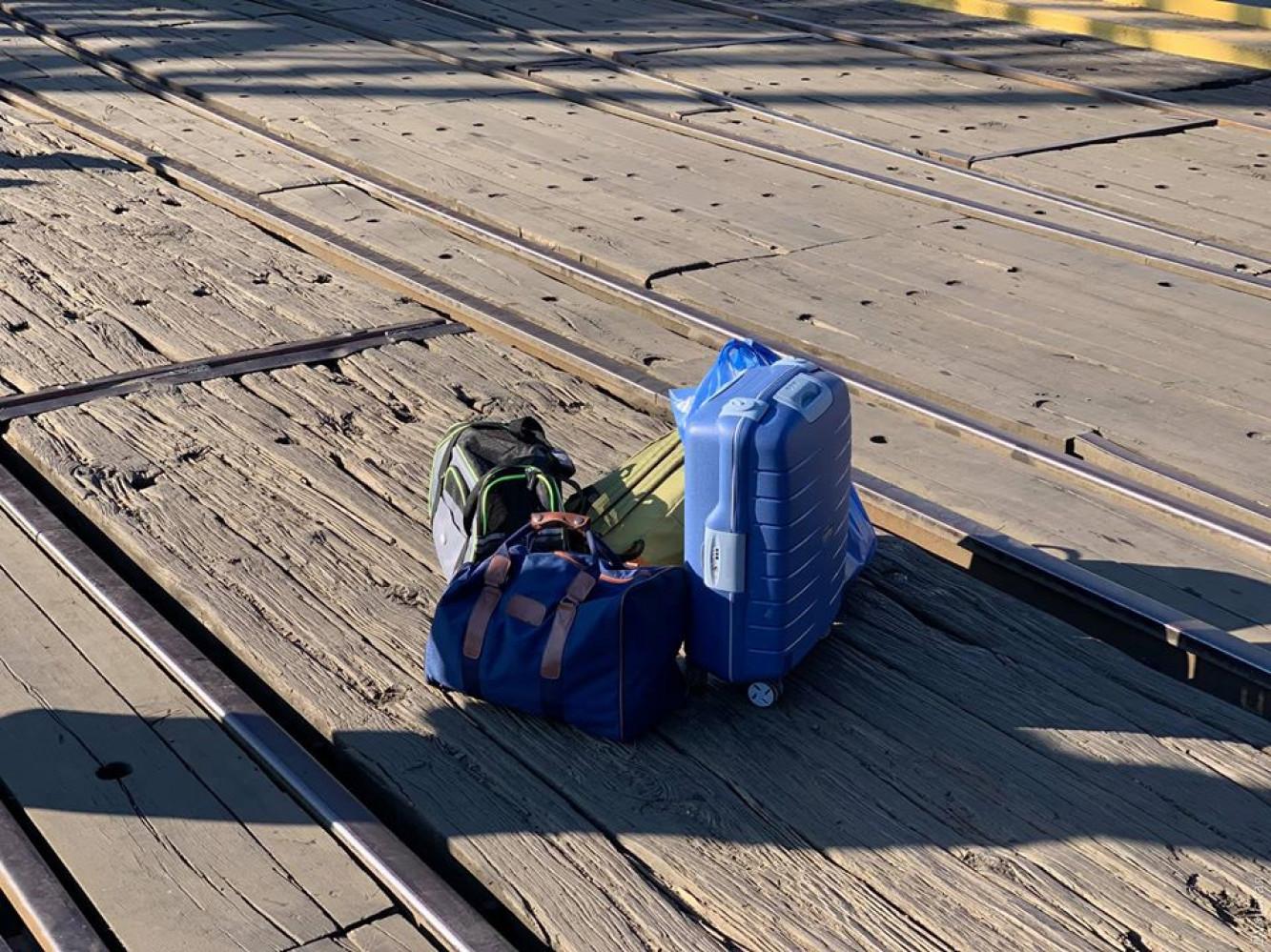 Вещи пассажиров: фото