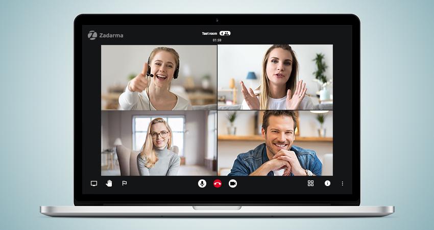 Телефония Zadarma представила бесплатные видеоконференции