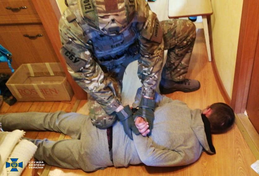 Задержание подозреваемого (Фото: пресс-служба СБУ)