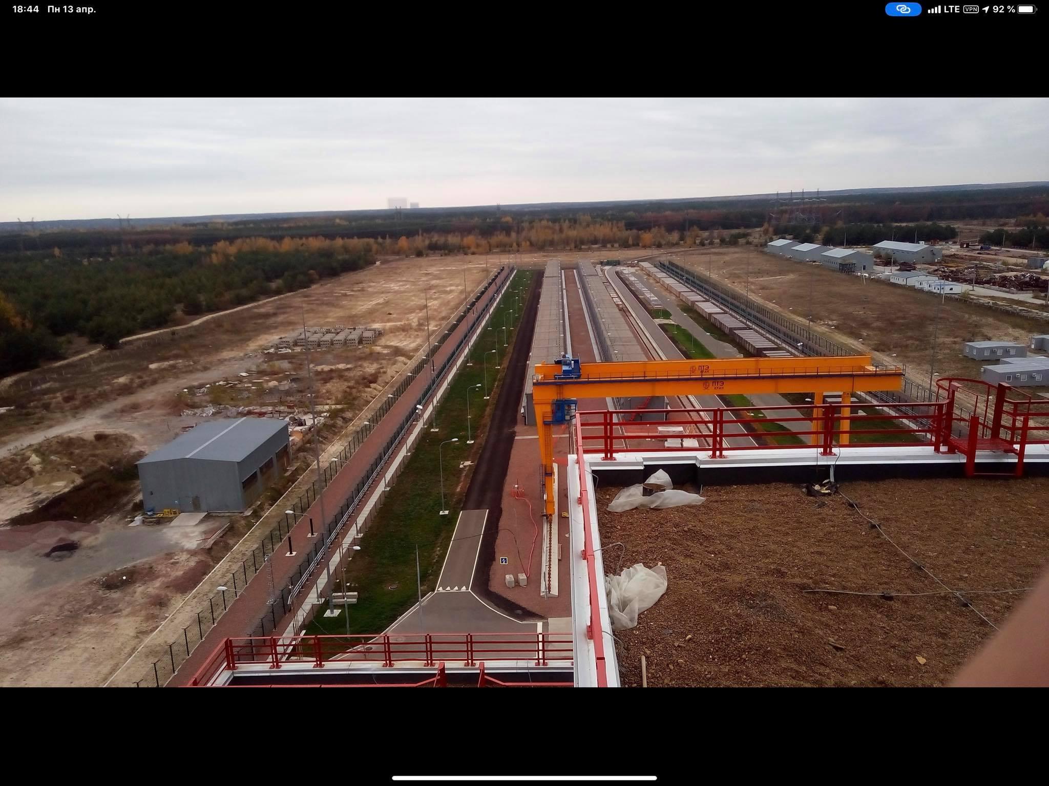 Хранилище отработанного ядерного топлива, ХОЯТ-1 (Фото: Facebook Антона Геращенко)