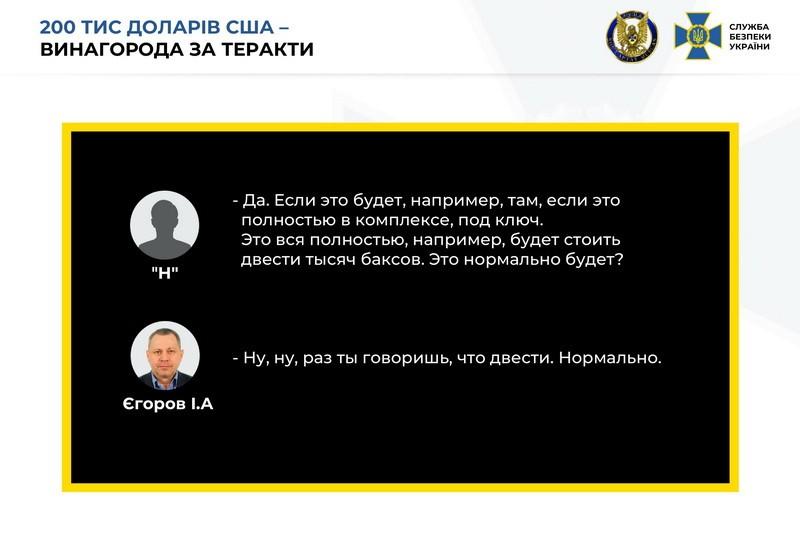 Данные СБУ о вознаграждении Шайтанова