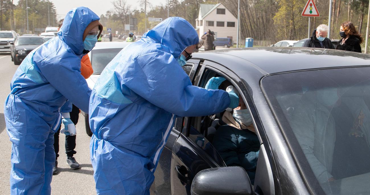 Проверка температуры у водителей и пассажиров при въезде в город