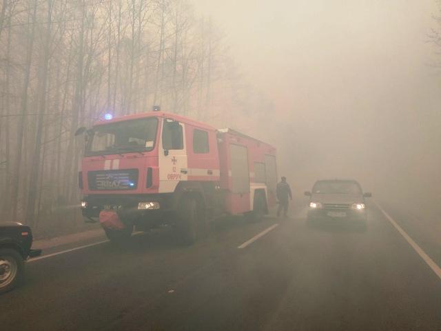 В Житомирской области лесные пожары перекинулись на села. Людей отселяют: видео