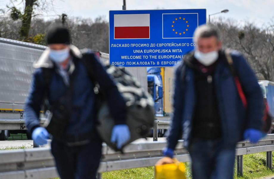 Украинско-польская граница, фото: WOJTEK JARGILO/EPA