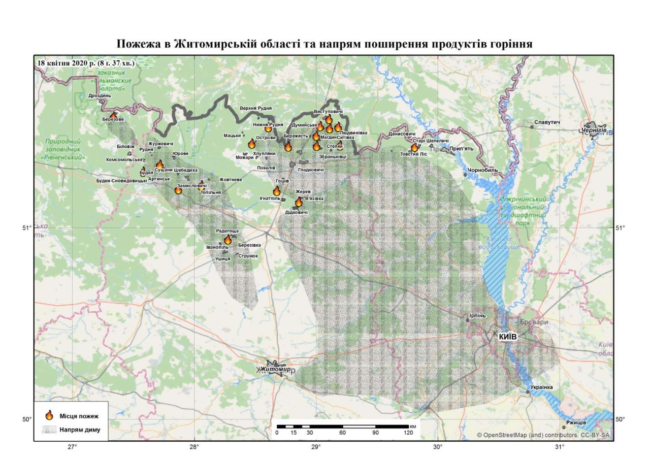 Зеленского убеждают, что в пожарах в Житомирской области сгорели нежилые здания