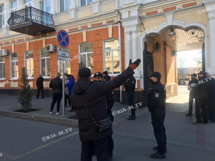 Акция протеста в Мелитополе