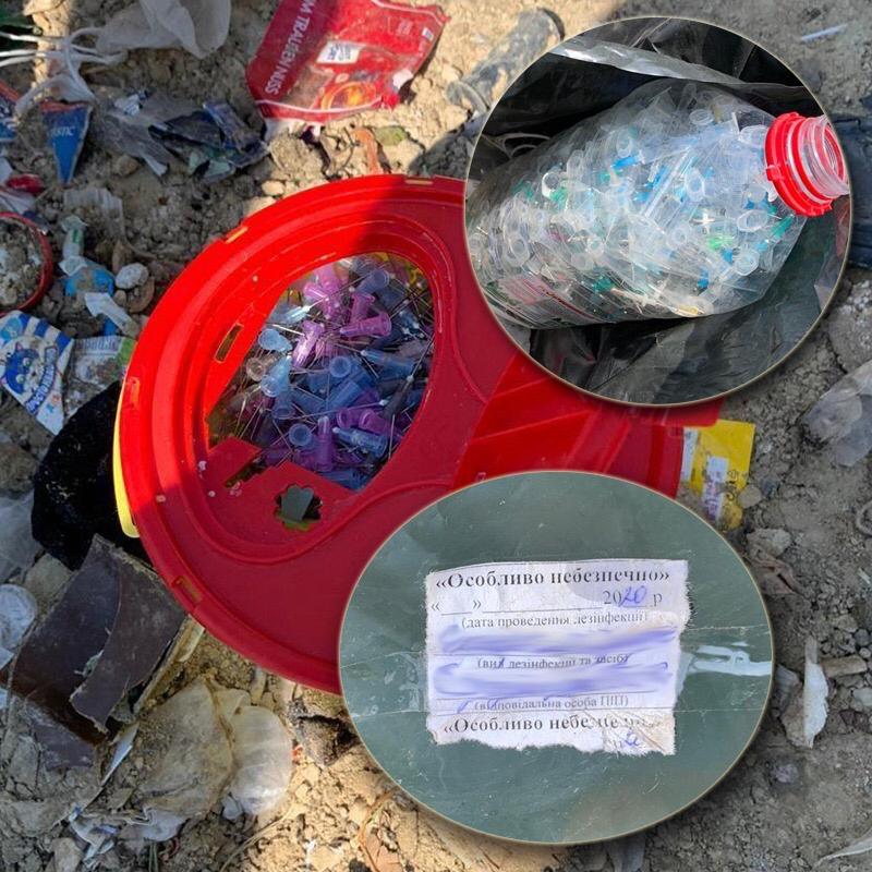 Опасные медицинские отходы из больниц Киева вывозили на стихийные свалки: фото