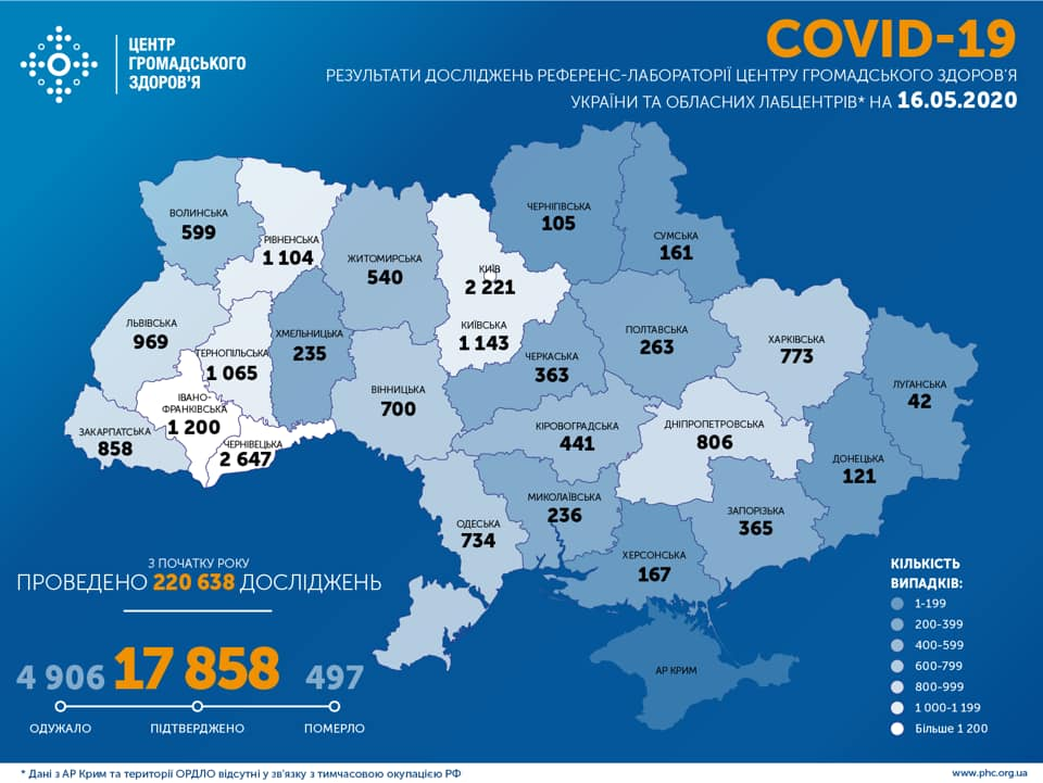 Карта по областям