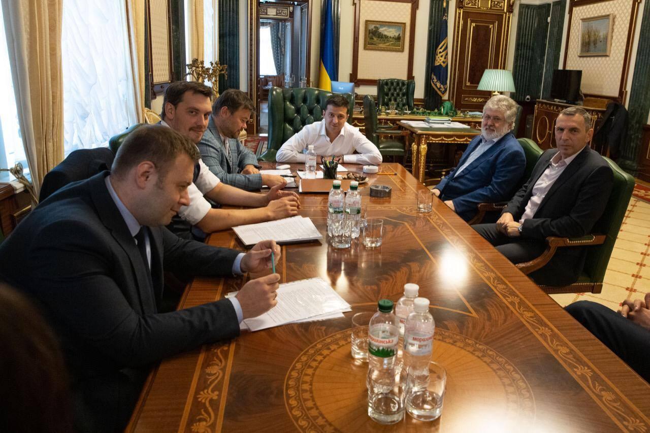 Владимир Зеленский и Игорь Коломойский (фото - Офис президента)