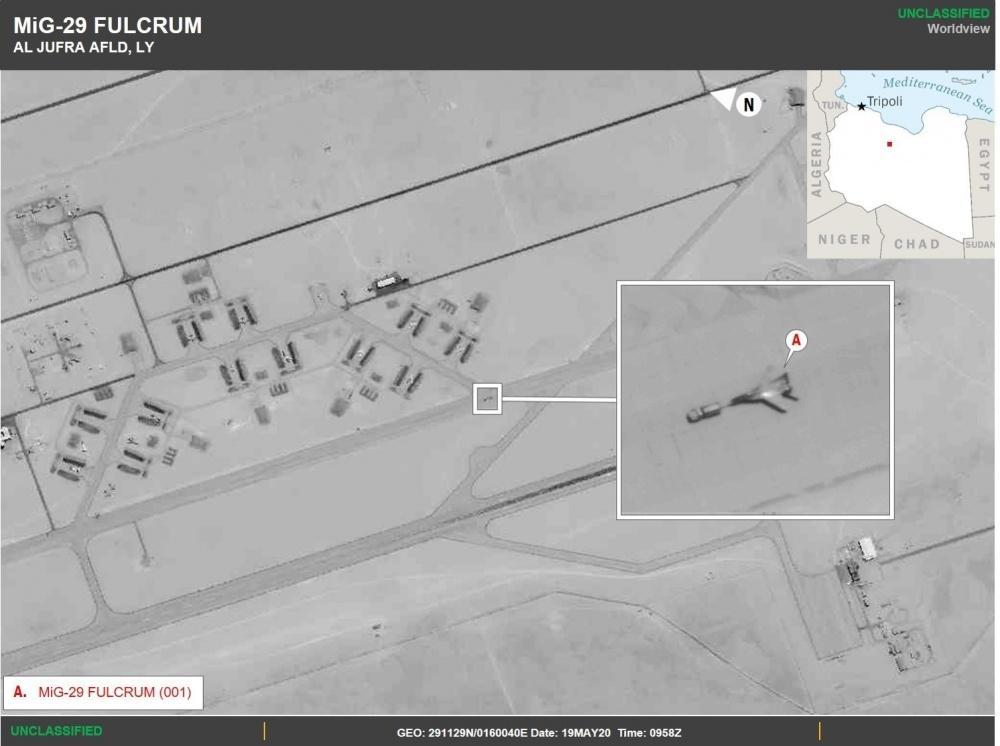 Российский истребитель МиГ-29 в Ливии (Фото: U.S. Africa Command)