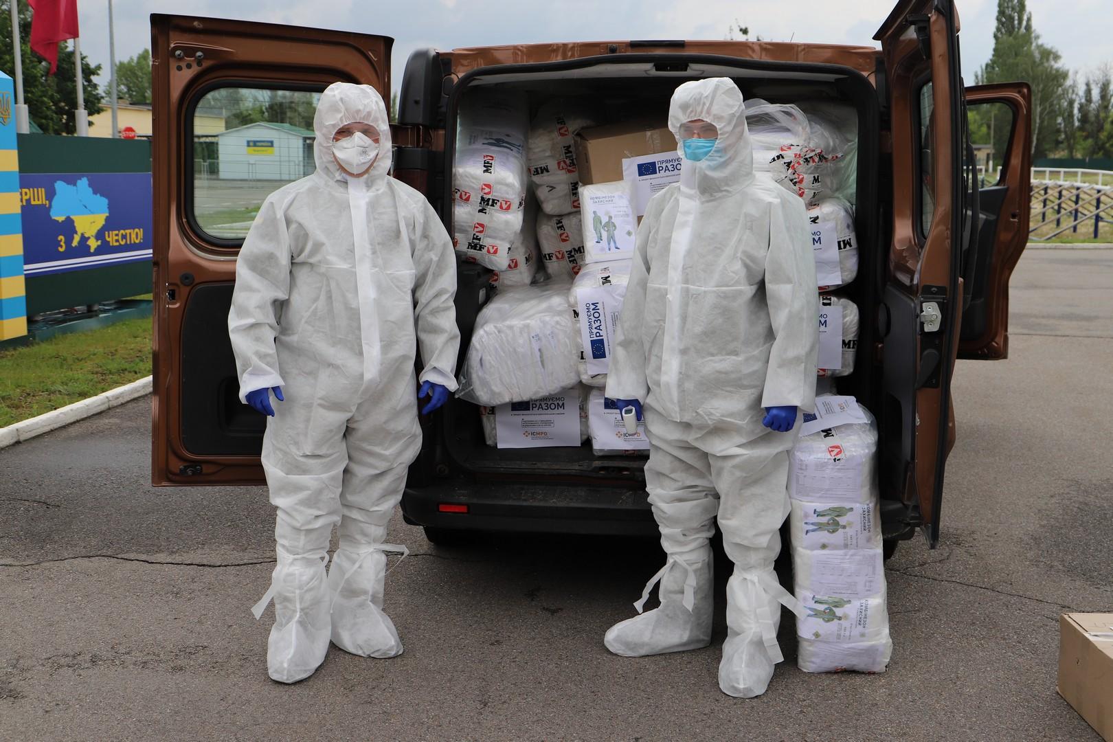 Защитные костюмы (фото - dpsu.gov.ua)