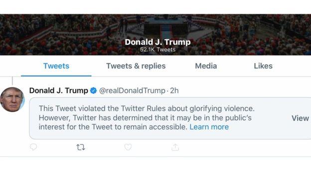 Twitter приховав твіт Трампа про протести в Міннеаполісі