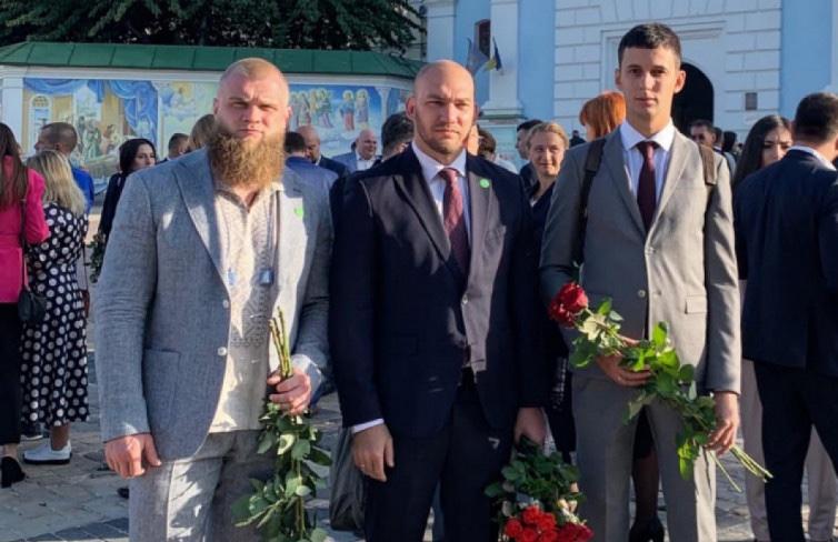 Нардепы от СН Артем Дмитрук, Алексей Леонов и Александр Горенюк (фото - Facebook Леонова)