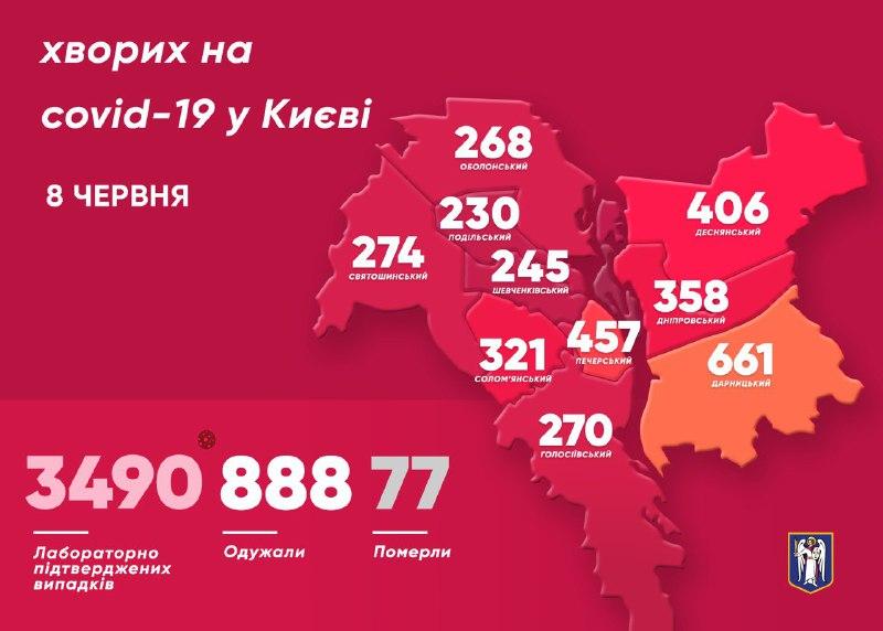 Данные по заболевшим в Киеве