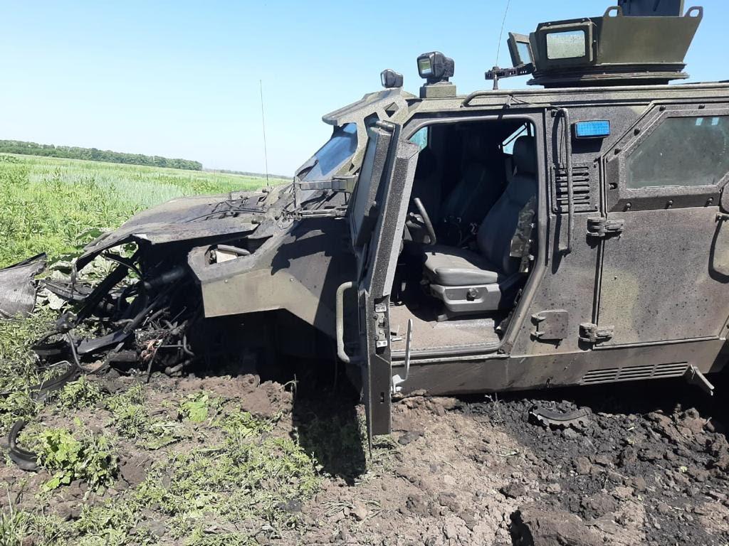 На месте взрыва автомобиля ВСУ в Авдеевке (Фото: пресс-служба Офиса генпрокурора)