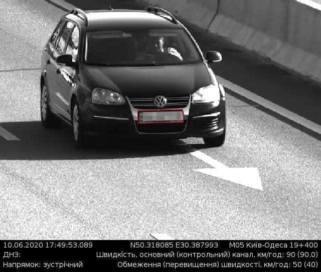 Превышение скорости на дороге