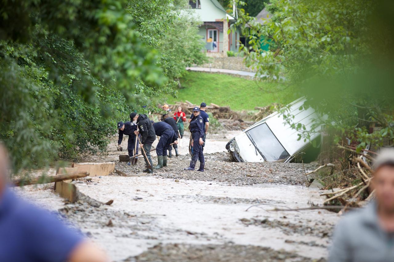 Наводнение на Прикарпатье 24 июня