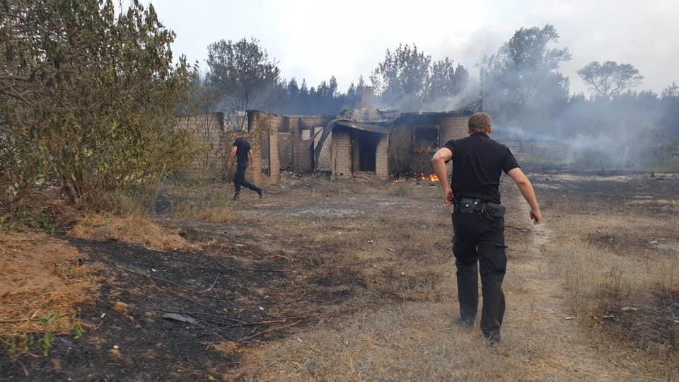 Ликвидация пожаров в Луганской области