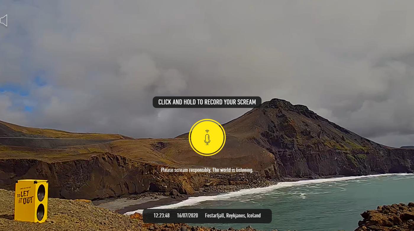 Ісландія запустила сайт, через який можна покричати в красивих місцях - відео