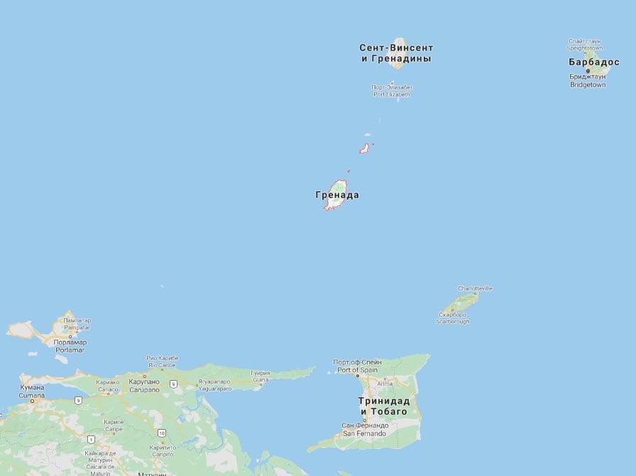 Расположение Гренады на карте