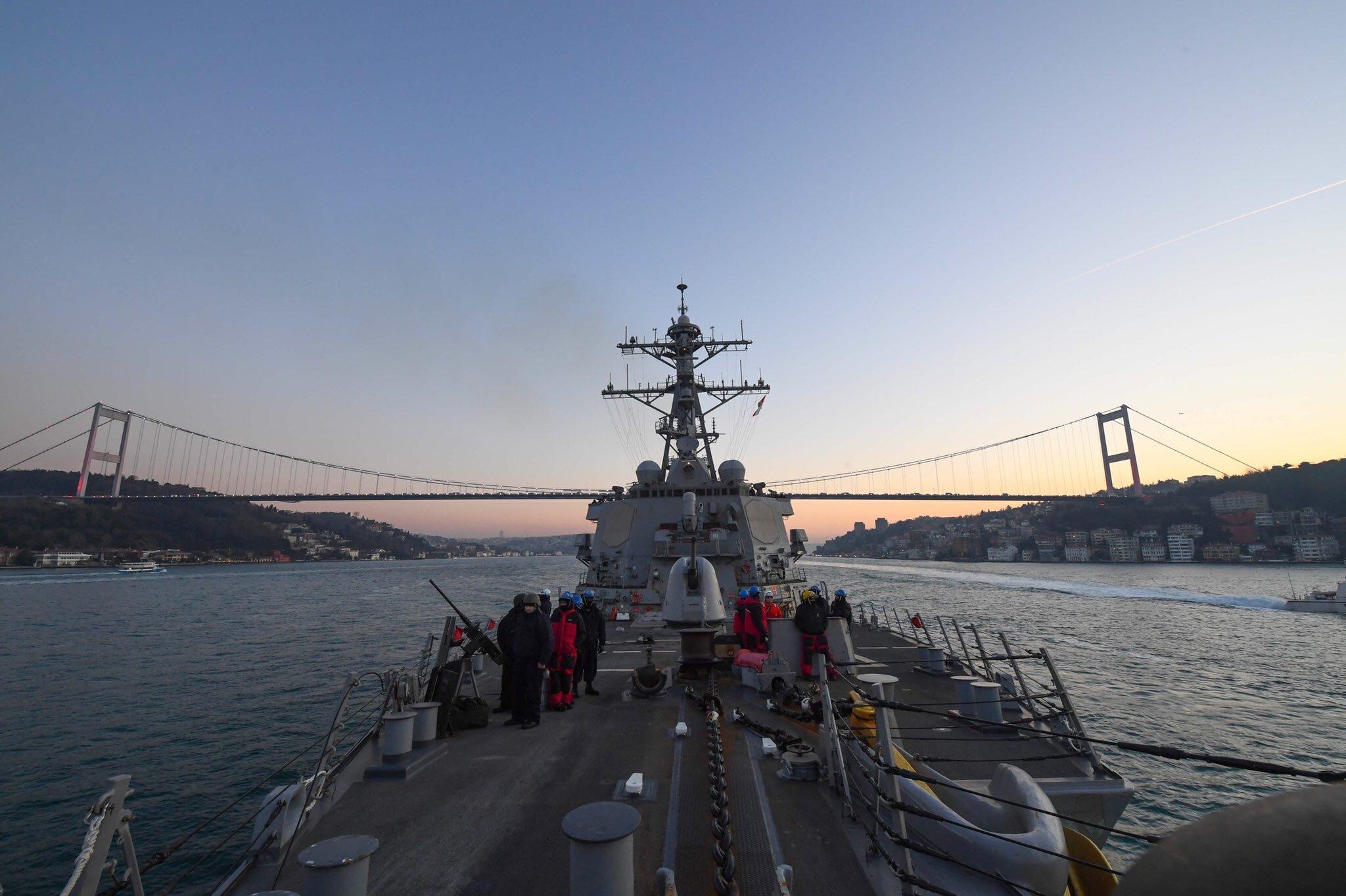 Ракетный эсминец США направляется в Черное море для учений с ВМС Украины – фото