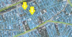 Киевская, 128. Участок кипрской Absentem Limited (сверху), участок Максима Криппы (внизу), фото: скриншот Геокадастр