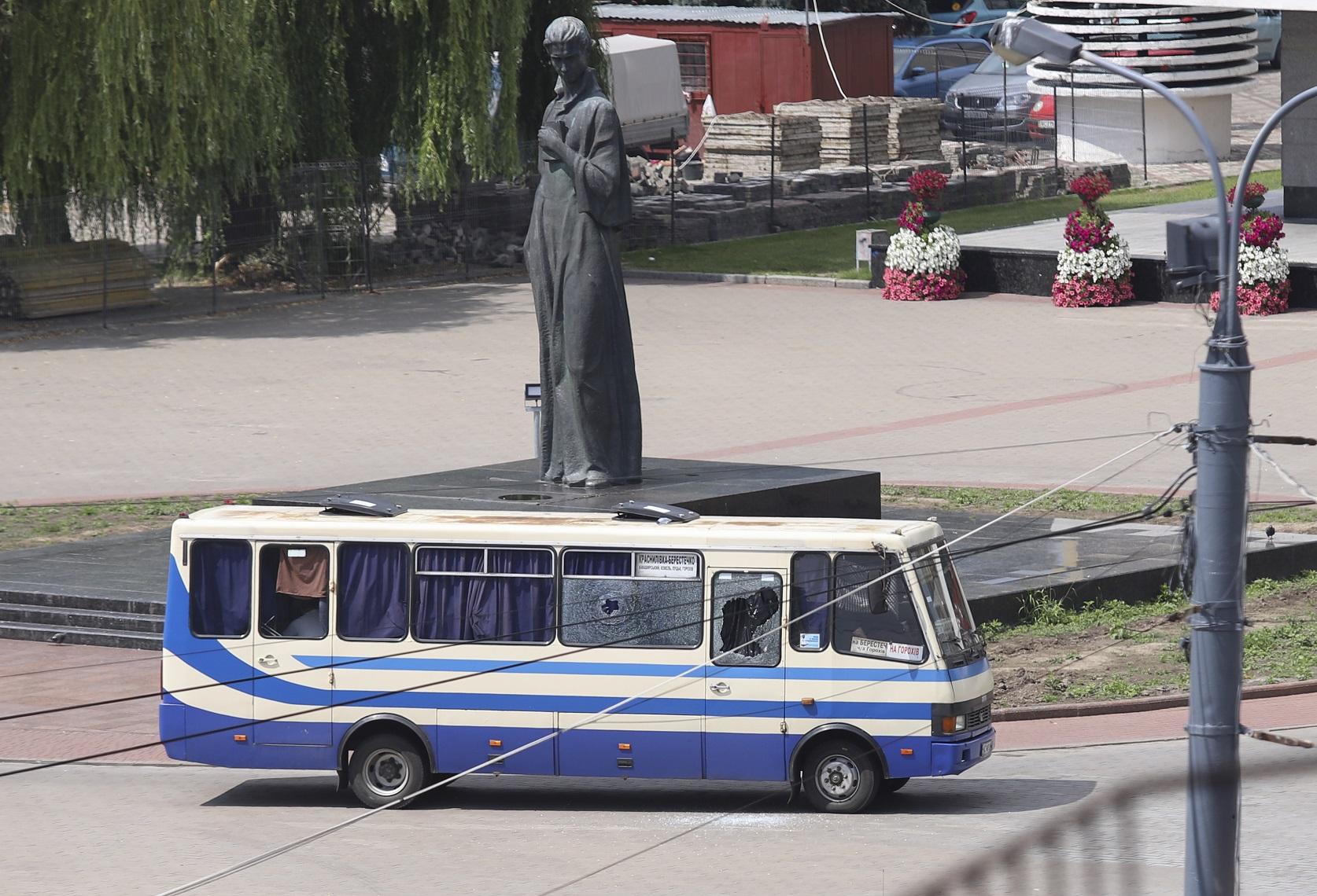 Автобус с заложниками (фото - EPA)