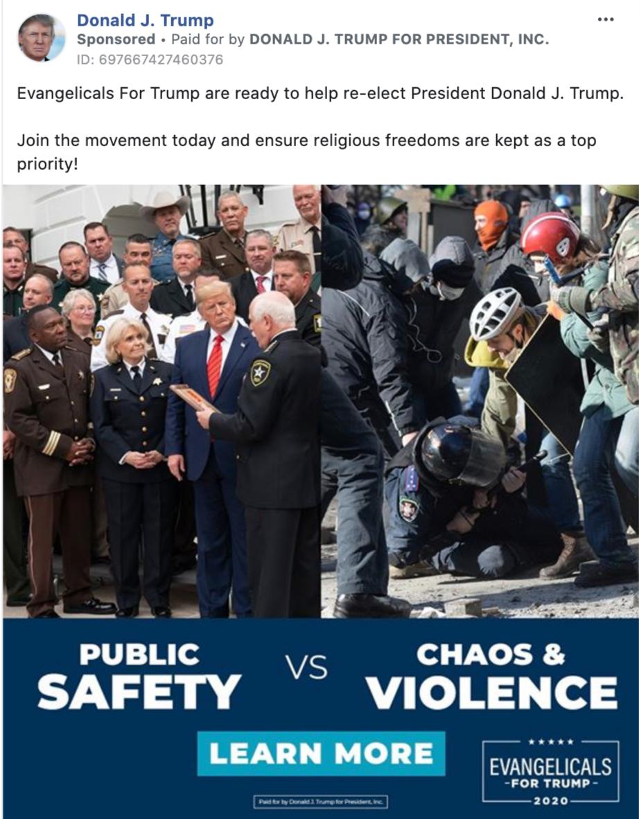 """В рекламе Трампа фотографией с Майдана проиллюстрировали """"хаос и насилие"""""""