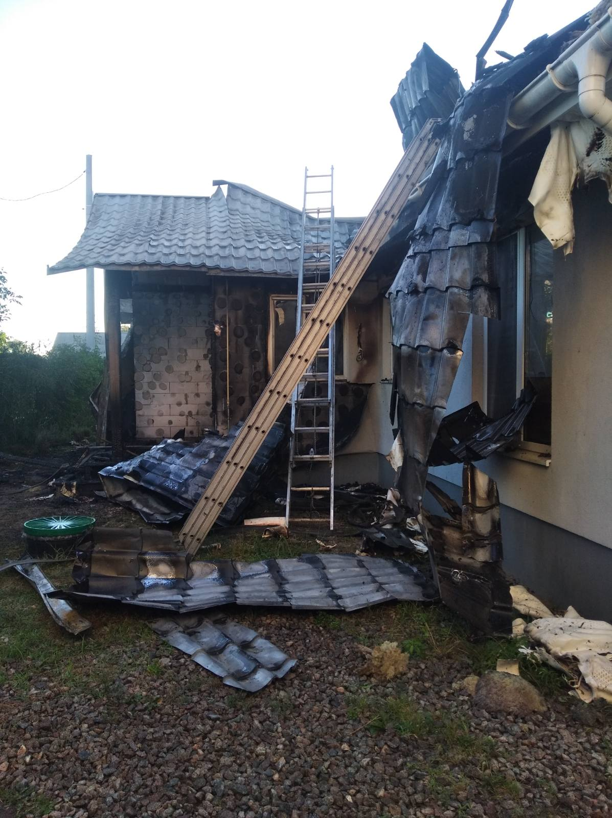В Киеве произошел пожар в доме главы Центра противодействия коррупции