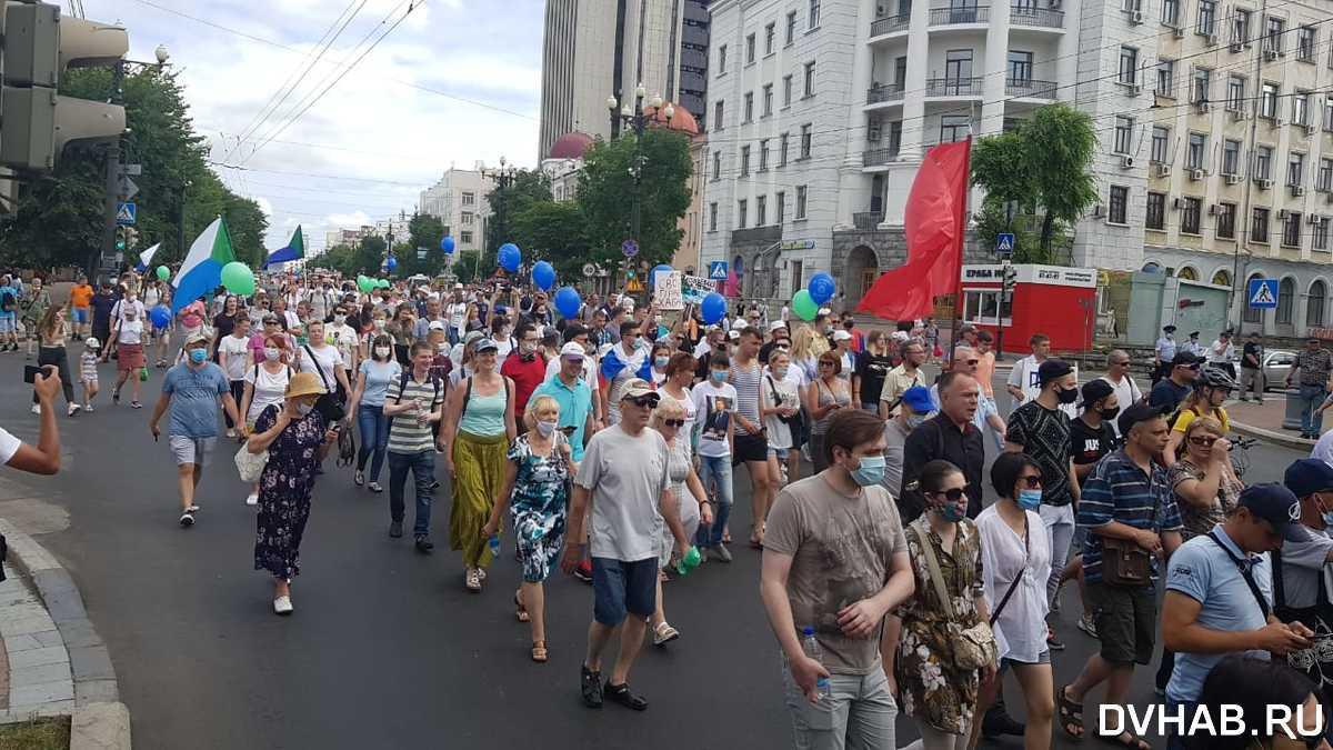 Митинг в российском Хабаровске