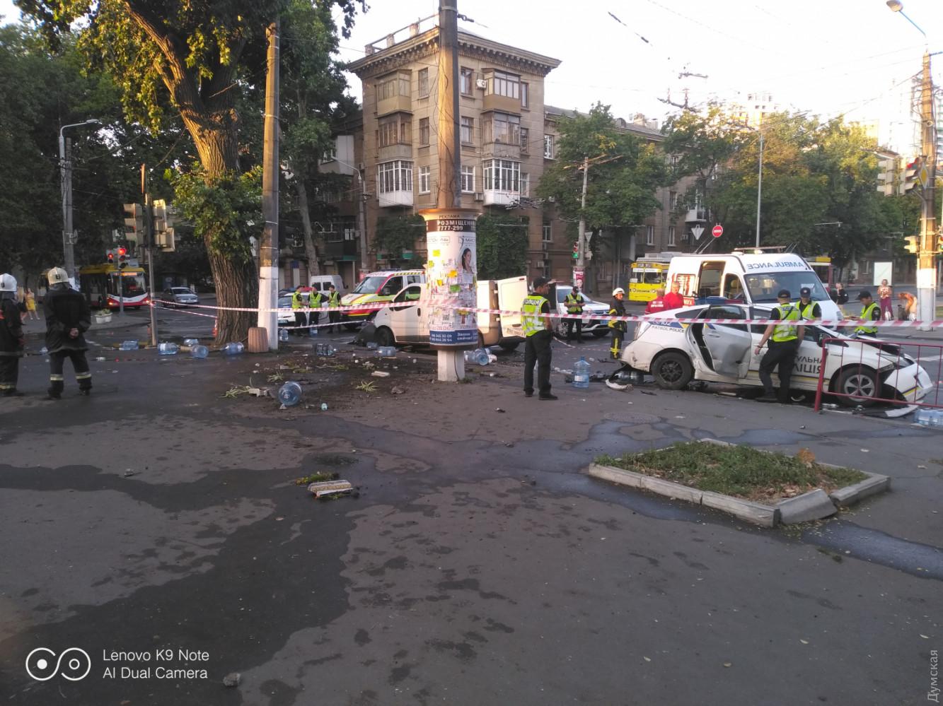 Авария в Одессе 30 июля